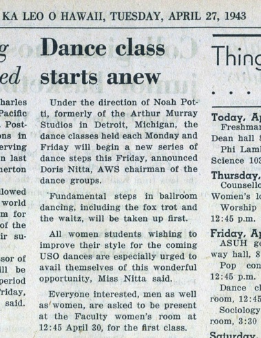 Dance Classes_KL_23 April1943